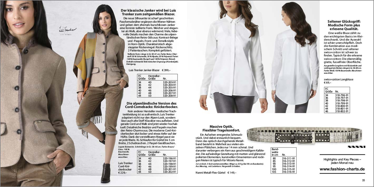 Seite 18 19 Lookbook November 2016 Lookbooks Fashion Charts Sweater Typisch Original Strenesse Trapeztasche