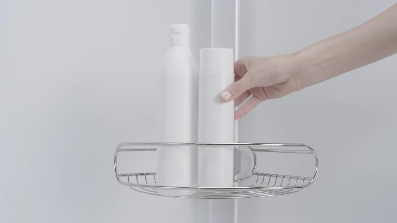 Simplehuman spann duschcaddy teleskop duschregal gebürsteter